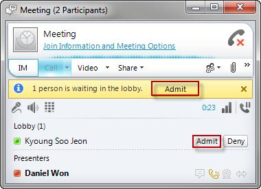 Conduct a Meeting on Lync