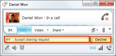 Sharing Contents on Lync