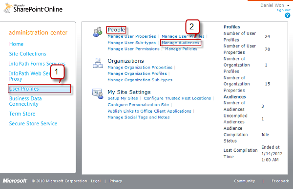 Manage Audiences on SharePoint