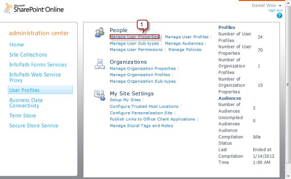 Manage User Profile on SharePoint
