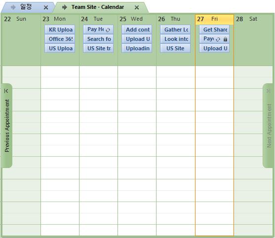 View and update a SharePoint Calendar