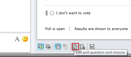 Conduct a poll