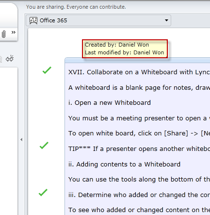 Collaborate on a Whiteboard with Lync