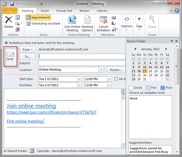 Using Lync through Microsoft Office