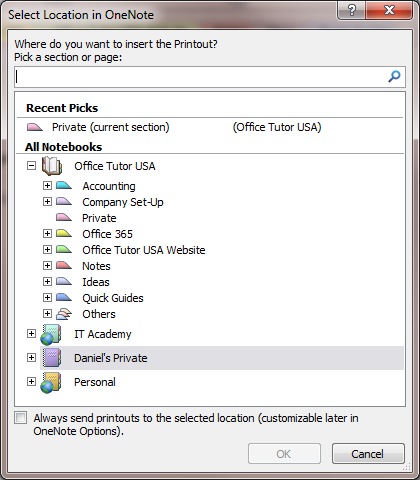 Using PowerPoint and OneNote together