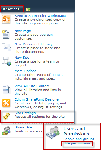Check Permissions for a person or site on SharePoint