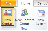 Create Electronic Business Cards on Outlook 2010