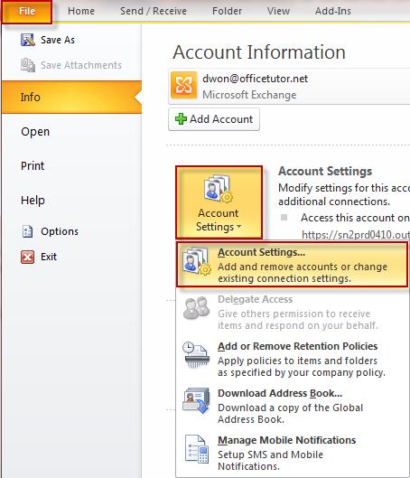 Microsoft Exchange, Outlook, Outlook 2010