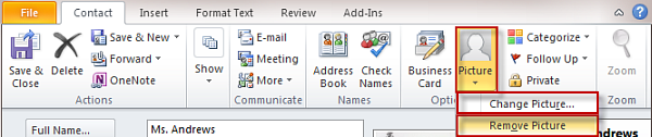 Personalizing Outlook 2010