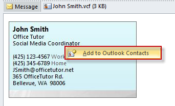 Create electronic business cards on outlook 2010 officetutor usa create electronic business cards on outlook 2010 reheart Choice Image