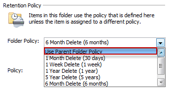 Assign archive policy to email messages