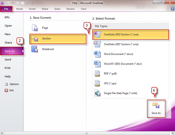 onenote section template - creating a template in onenote 2010 officetutor usa