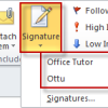 Create and add an E-mail message signature on Outlook