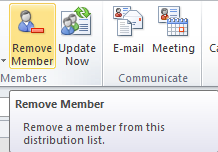 Create and edit a Contact Group in Outlook 2010