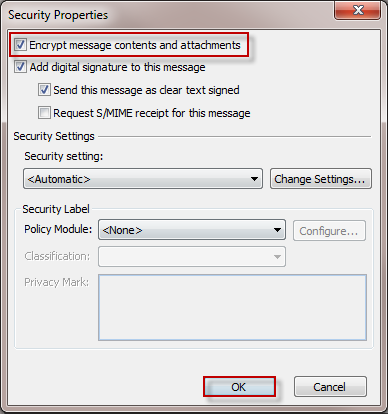 Encrypt E-mail Messages
